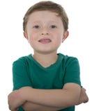 Årig amerikansk pojke förtjusande 5 Arkivfoton