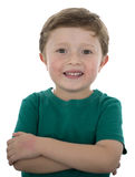 Årig amerikansk pojke förtjusande 5 Royaltyfri Bild