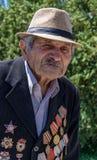 årig armenisk veteran 92 av världskrig II Royaltyfria Bilder