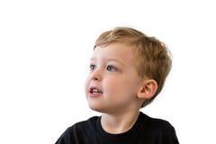 Årig pojke lyckliga tre Royaltyfri Fotografi