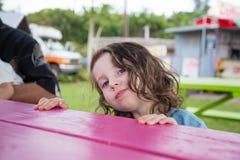 Årig stående för barn tre Royaltyfria Bilder