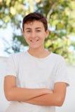 Årig tonårs- pojke tillfälliga tretton Fotografering för Bildbyråer