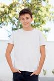 Årig tonårs- pojke tillfälliga tretton Arkivbilder