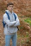 årig tonårs- pojke 18 utanför Royaltyfria Foton