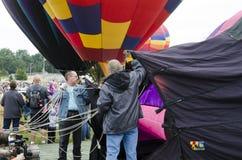 Årlig ballongfestival Colorado Springs, Colorado Arkivfoto