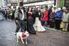 Årlig Dickensian jul festival, Rochester UK Arkivbilder