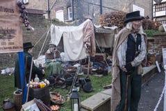 Årlig Dickensian jul festival, Rochester UK Royaltyfria Foton