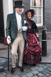 Årlig Dickensian jul festival, Rochester UK Royaltyfri Foto