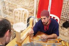 Årlig festival av medeltida kulturer av Europa Cypern Ayia Napa royaltyfri bild