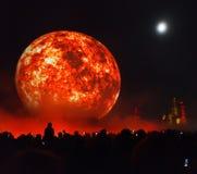 Årlig festivalcirkel för Moskva av ljus Arkivbilder