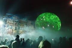Årlig festivalcirkel för Moskva av ljus Royaltyfri Bild