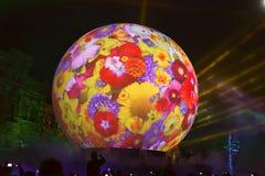 Årlig festivalcirkel för Moskva av ljus Arkivbild