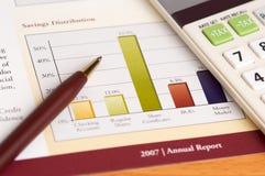 årlig granskning för finansiell planläggning Royaltyfri Fotografi