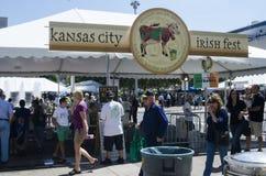 Årlig Kansas City irländareFest Arkivfoton