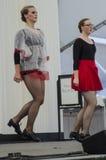 Årlig Kansas City irländsk Fest med dansare Royaltyfria Foton