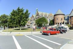 Årlig klassisk bilkryssning Fairhaven Massachusetts Royaltyfri Fotografi