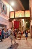 Årlig procession av korsfästelsen av Jesus Christ på easter Arkivbilder