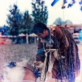 Årlig sammankomst av shamans på Olkhon Royaltyfria Foton