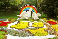 Årlig traditionell utställning för 59 blomma Arkivbild