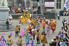 Årliga Halle Carnival, Belgien Arkivbild