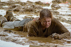 """21. årliga Marine Mud Run †""""ger upp aldrig Royaltyfri Bild"""