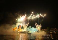 Årliga stora drakar ståtar Royaltyfria Foton
