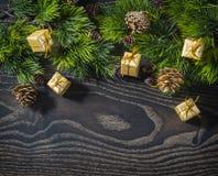Års och julbakgrund för ferie nytt Royaltyfria Bilder