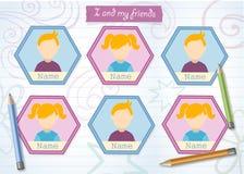 Årsbok för grundskola för barn mellan 5 och 11 år med blyertspennor Royaltyfria Bilder
