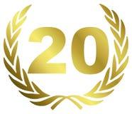 årsdag 20 Royaltyfri Fotografi