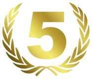årsdag 5 Fotografering för Bildbyråer