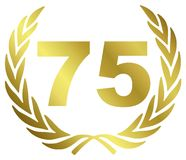 årsdag 75 Royaltyfri Bild