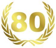 årsdag 80 Arkivfoton