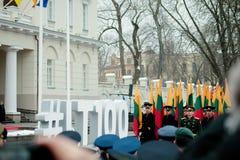 100. årsdag av återställandet av den litauiska statsstatusen Fotografering för Bildbyråer