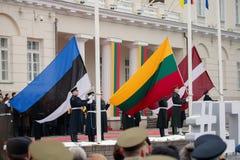 100. årsdag av återställandet av den litauiska statsstatusen Arkivbild