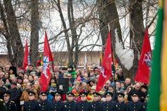 100. årsdag av återställandet av den litauiska statsstatusen Arkivbilder