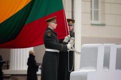 100. årsdag av återställandet av den litauiska statsstatusen Royaltyfri Bild