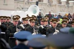100. årsdag av återställandet av den litauiska statsstatusen Royaltyfria Bilder