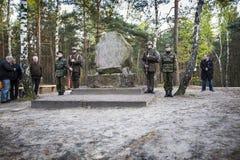 Årsdag av den första militära utbildningen den polska militära nollan Royaltyfri Fotografi