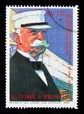 150. årsdag av födelsen av Ferdinand von Zeppelin serie, royaltyfri bild