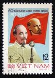årsdag 60 av kommunistpartiet av Vietnam, circa 1977 Arkivbilder