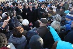Årsdag av revolutionen av värdighet i Ukraina Arkivbild