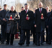 Årsdag av revolutionen av värdighet i Ukraina Arkivfoton