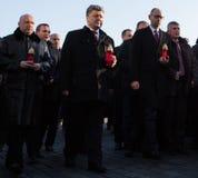 Årsdag av revolutionen av värdighet i Ukraina Royaltyfri Bild
