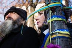 Årsdag av revolutionen av värdighet i Ukraina Arkivbilder