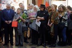 140. årsdag av St Petersburg konst och branschakademin Arkivbilder
