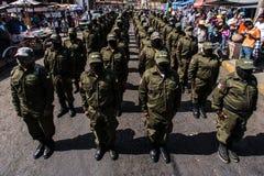 Årsdag av upproret i Cheran, Mexico Fotografering för Bildbyråer