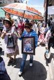 Årsdag av upproret i Cheran, Mexico Arkivbild