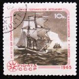 årsdag 145 av upptäckten av Antarktis vid M Lazarev och F Bellinzgauzen circa 1965 Fotografering för Bildbyråer