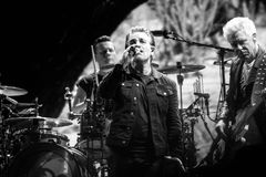 2017 årsdag för U2 Joshua Tree World Tour-30th Arkivbilder