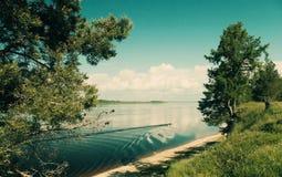 Årsdag på floden Fotografering för Bildbyråer